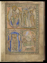 Annunciation, Visitation and Nativity, in The Winchester Psalter